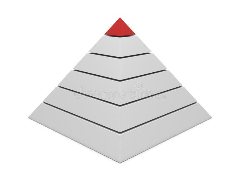 Carta da pirâmide vermelho-branca ilustração royalty free