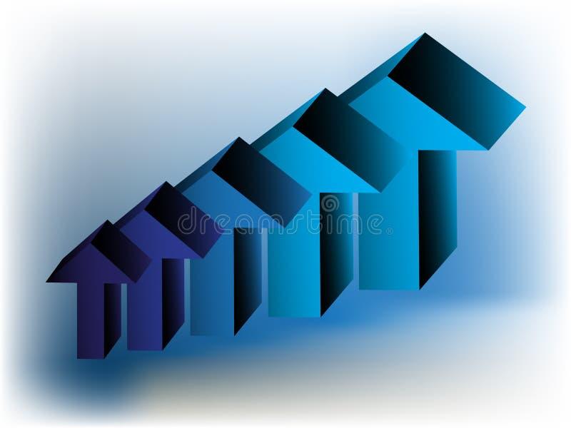 Carta da seta do vetor 3D ilustração do vetor
