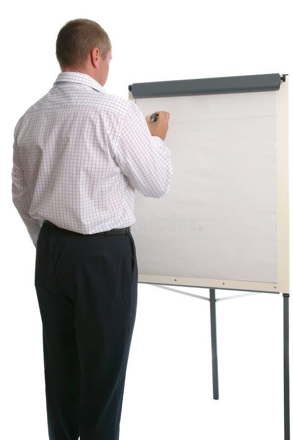 Carta de aleta do homem de negócios. imagens de stock