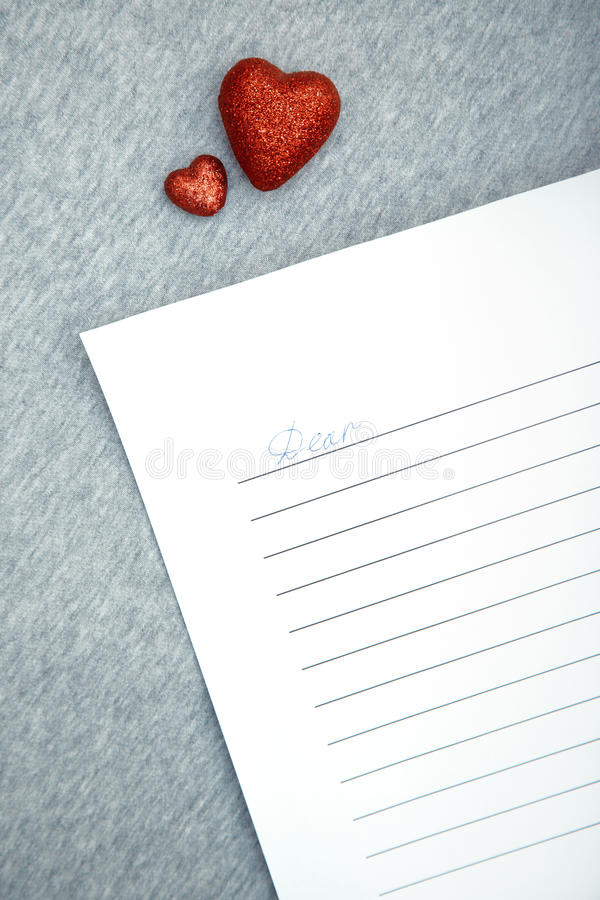 Carta de amor imagen de archivo