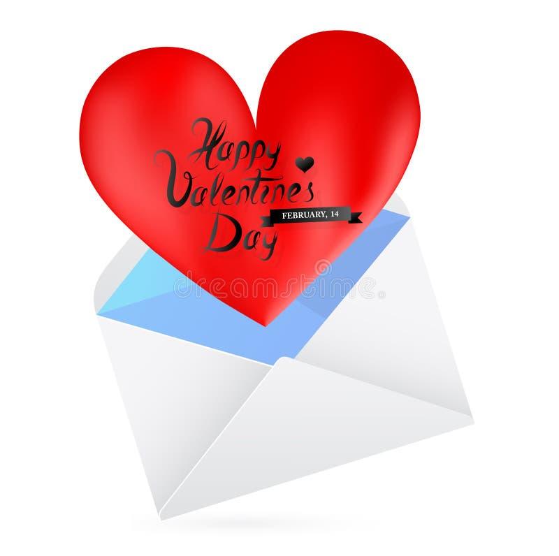 Carta de amor ilustração do vetor