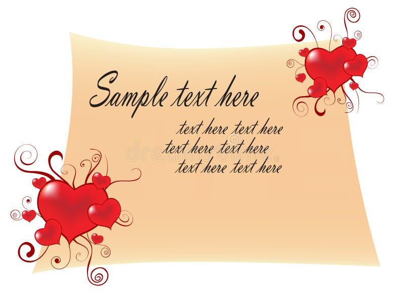 Letra de amor stock de ilustración
