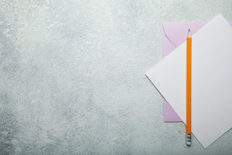 Carta de amor D?a del ` s de la tarjeta del d?a de San Valent?n del fondo Espacio vac?o para el texto fotos de archivo libres de regalías
