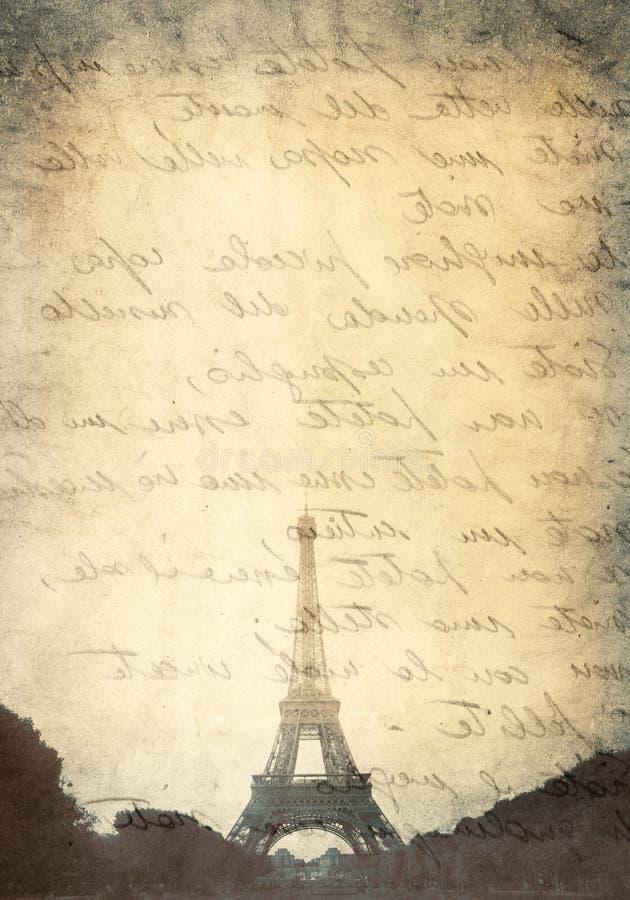 Carta de amor en París ilustración del vector