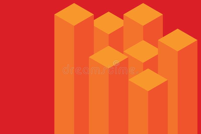A carta de barra e a linha projeto liso da foto dos elementos 3D de Infographics, orig?mi moderno da etapa do neg?cio da cor comp ilustração royalty free