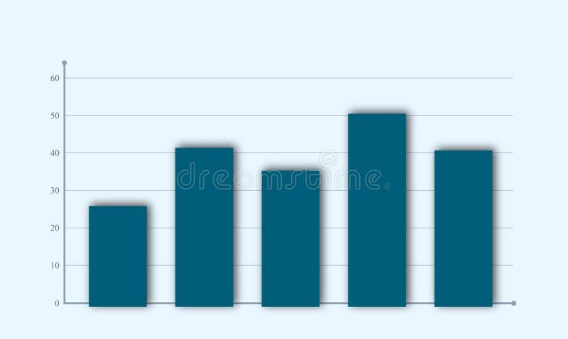 Carta de barra negócio e estatística do vetor para analisar a imagem gráfica ilustração royalty free