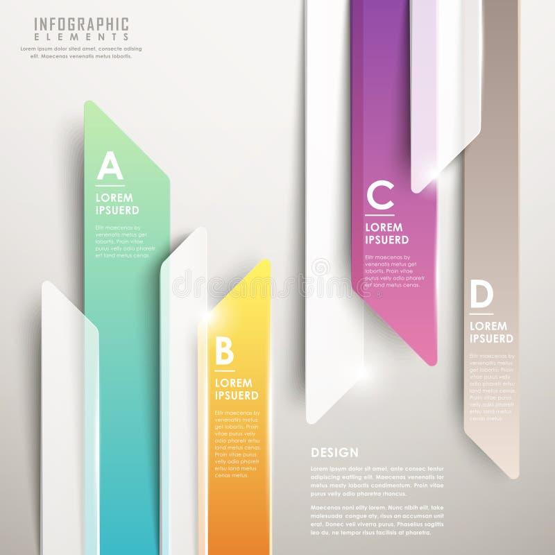 Carta de barra translúcida abstracta moderna de la flecha infographic libre illustration