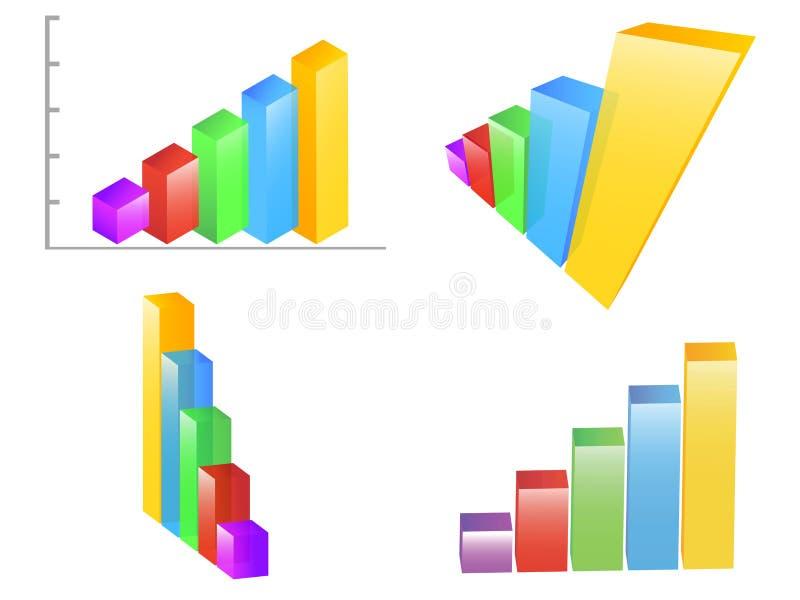Carta de barras coloridas ilustração stock