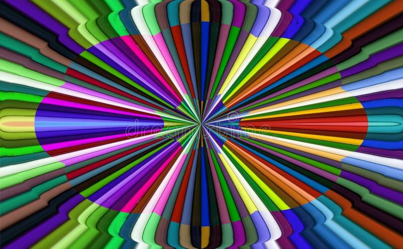 Carta de color abstracta ilustración del vector