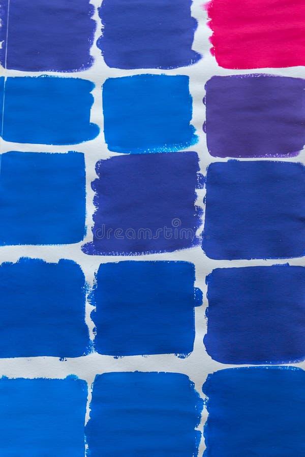 Carta de color del azul rojo foto de archivo libre de regalías