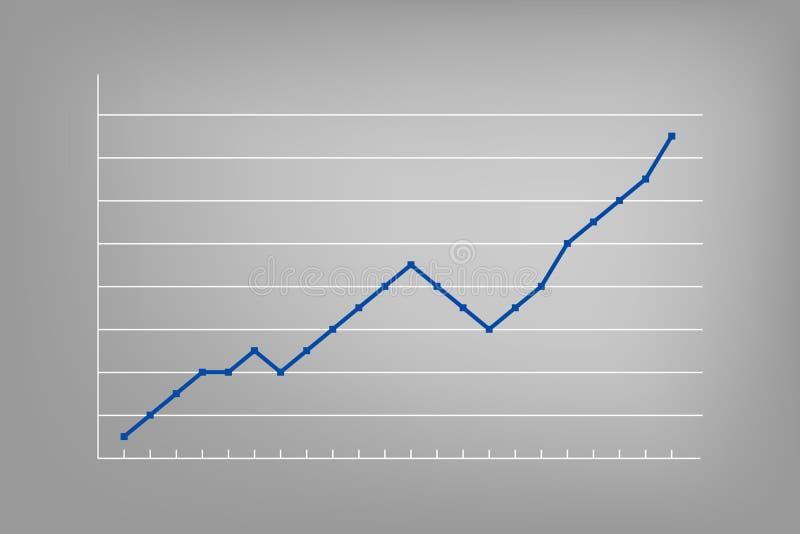 Carta de crecimiento Elemento infographic del vector Muestra del progreso para el negocio, finanzas, mercado de acción ilustración del vector