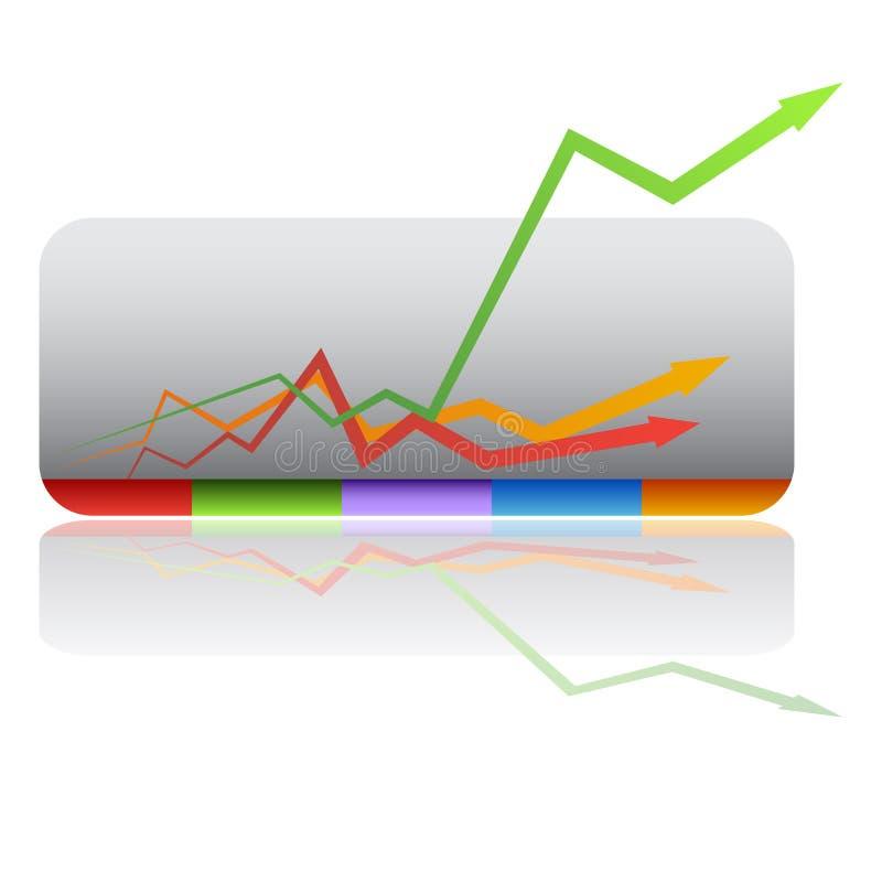 Carta de crecimiento exponencial ilustración del vector