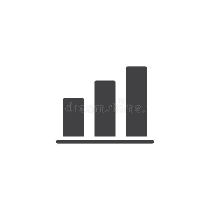 A carta de crescimento barra o ícone do vetor ilustração royalty free