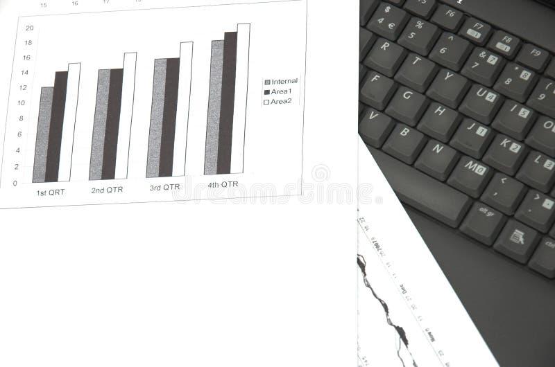 Carta de crescimento do negócio. foto de stock