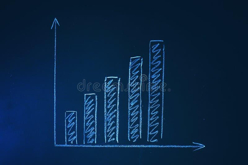 Carta de crescimento em um quadro ilustração do vetor