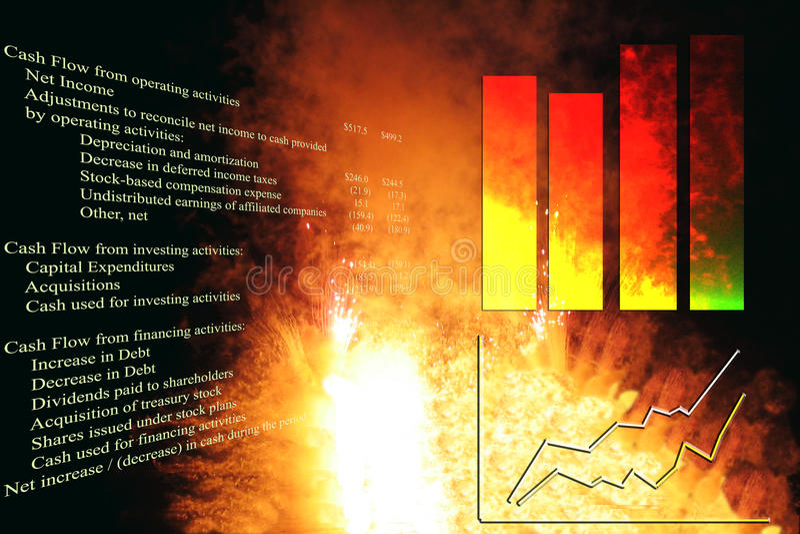 Carta de crescimento explosiva imagens de stock royalty free