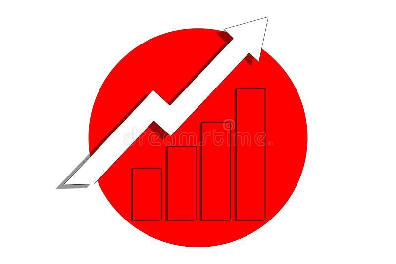 Carta de elevado crecimiento Gráfico del crecimiento del éxito y de los datos Analytics del negocio, márketing Concepto de las fi foto de archivo
