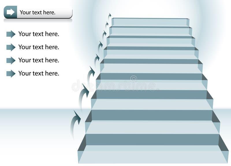 Carta de la escalera ilustración del vector