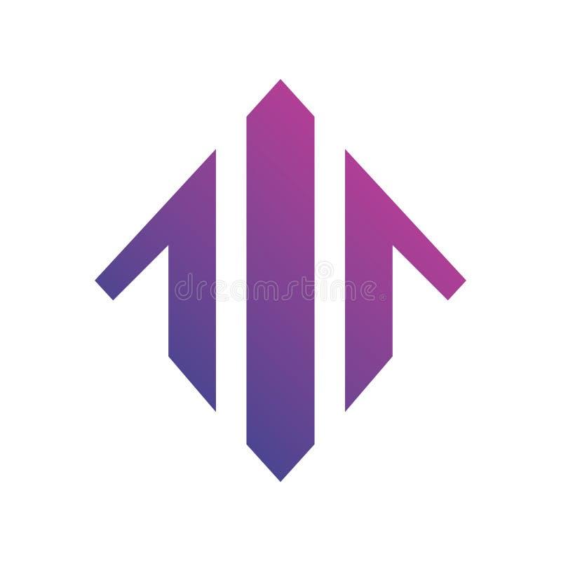 Carta de la flecha encima de Logo Vector ilustración del vector