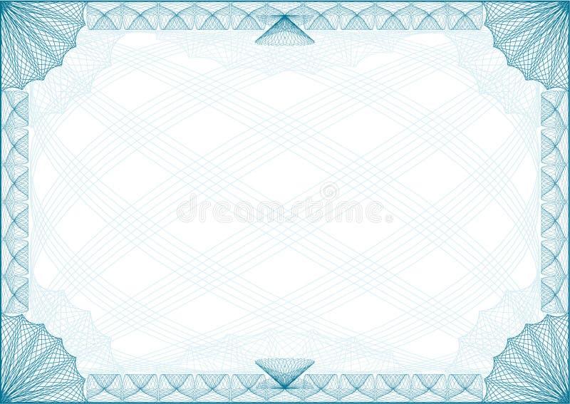 Carta de la frontera del certificado stock de ilustración