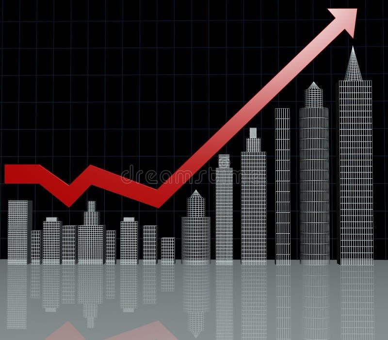 Carta de la inversión de propiedades inmobiliarias stock de ilustración