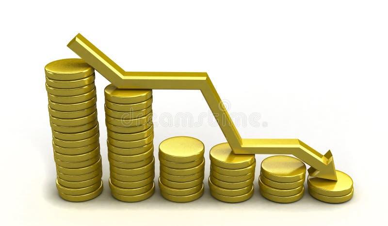 Carta de la moneda stock de ilustración