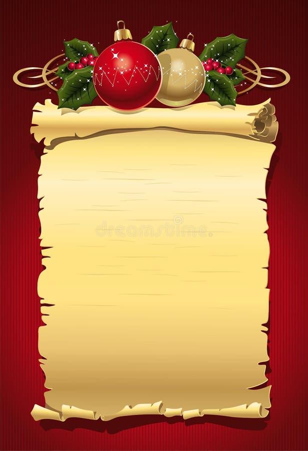 Carta de la Navidad stock de ilustración