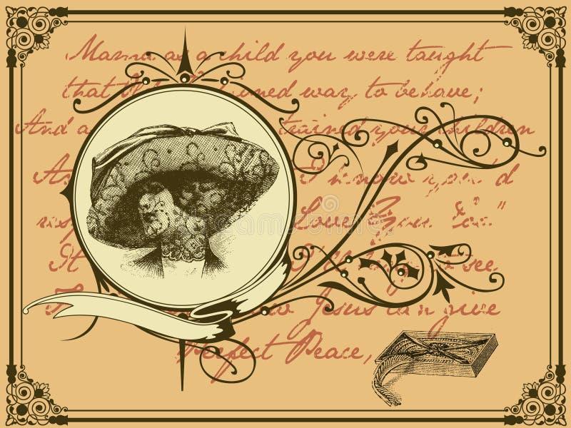 Carta de la viuda stock de ilustración