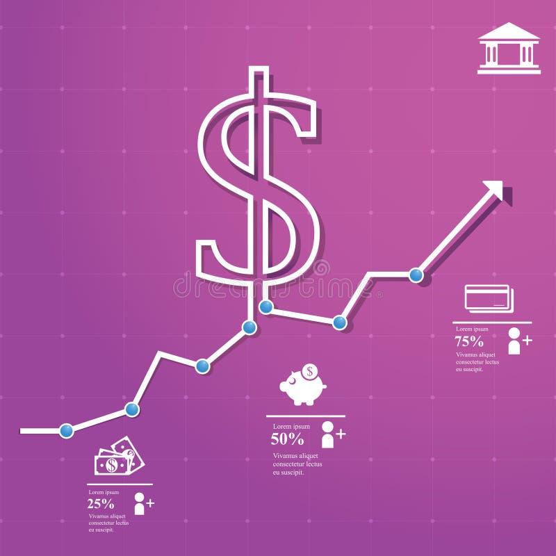 Carta de las finanzas ilustración del vector