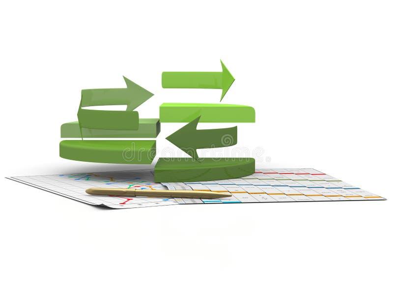 Carta de las finanzas del asunto, diagrama, barra, gráfico ilustración del vector