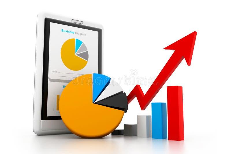Carta de negócio econômica ilustração stock