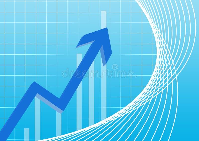 Carta de negócio que aponta o azul ilustração do vetor