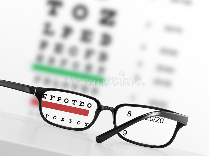 Carta de ojo stock de ilustración