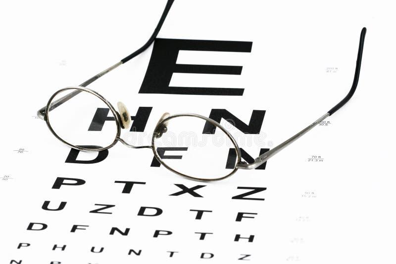Carta de olho com vidros imagem de stock