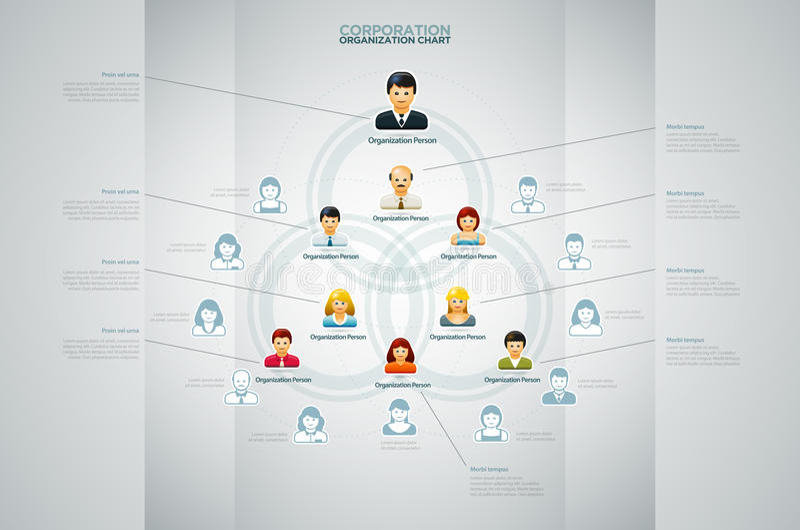 Carta de organización stock de ilustración