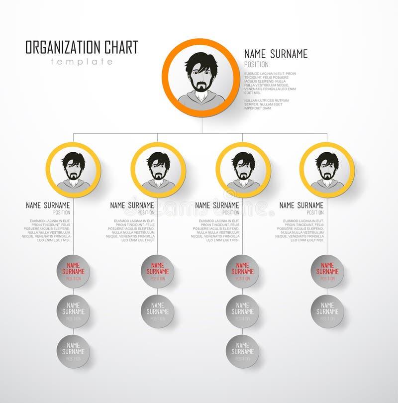 Carta de organización ilustración del vector
