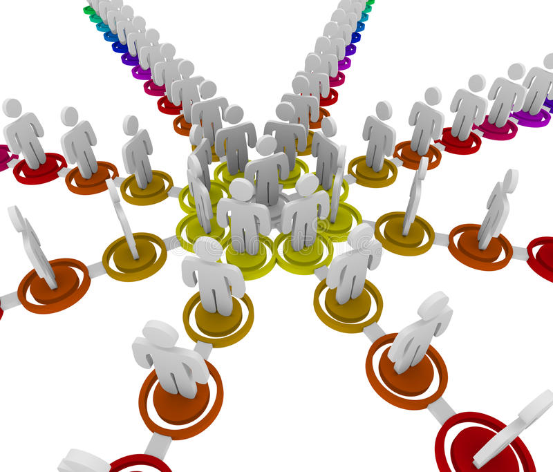 Carta de organización - conexiones libre illustration