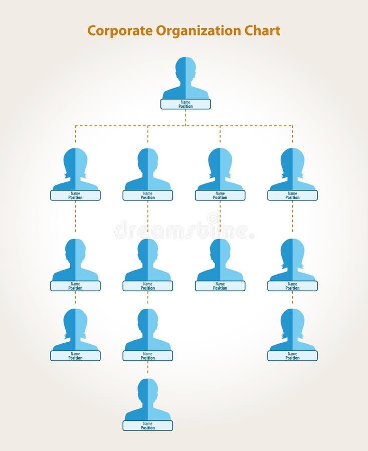 Carta de organización corporativa ilustración del vector