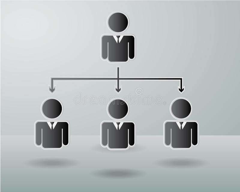 Carta de organización de la empresa ilustración del vector