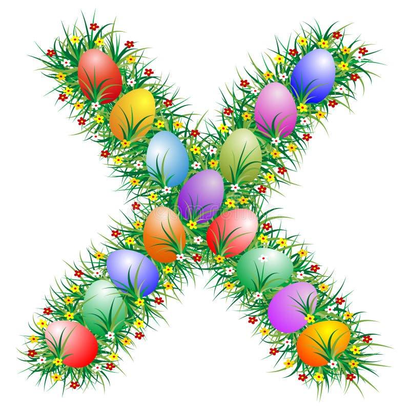 Carta X de Pascua stock de ilustración