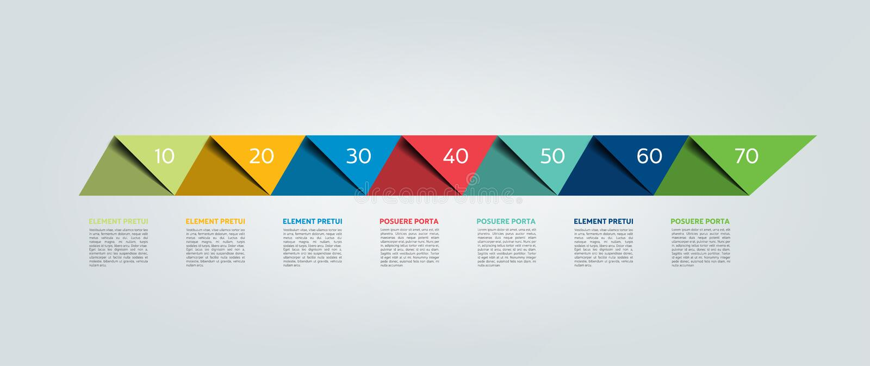 carta de 4 porciones, esquema, vector infographic ilustración del vector