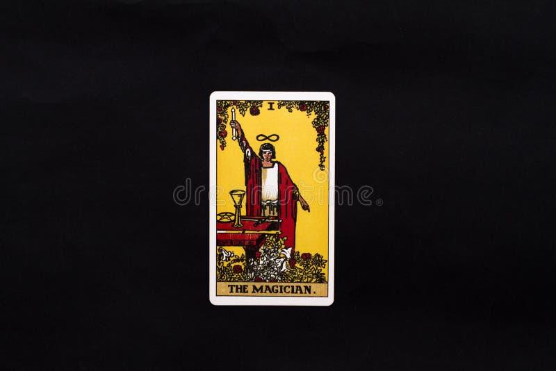 Carta de tarot importante de los arcana del mago foto de archivo libre de regalías