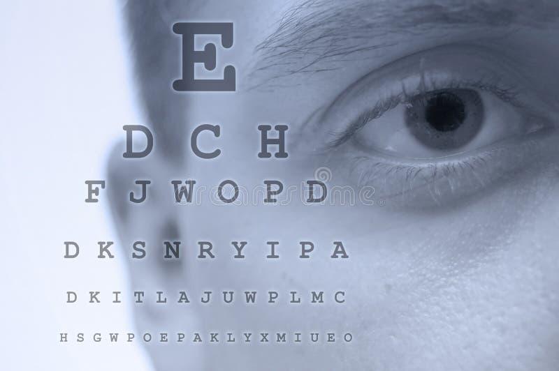 Carta de teste do olho foto de stock
