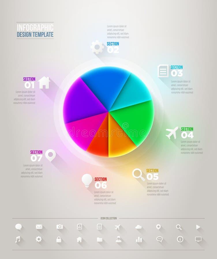 Carta de torta Infographic ilustração do vetor