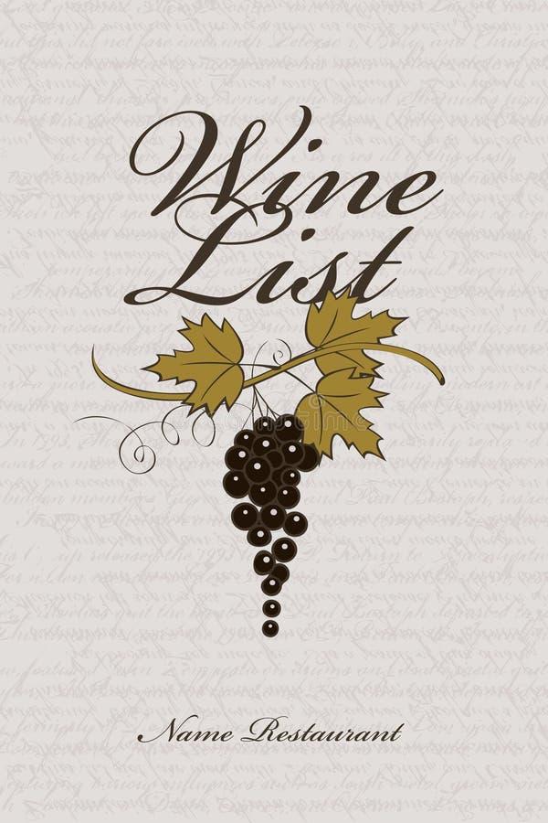 Carta de vinos stock de ilustración
