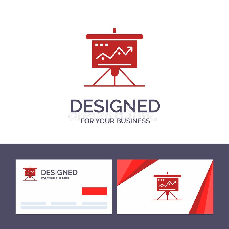 Carta de visita de la plantilla creativa de la tarjeta y del logotipo, negocio, desafío, márketing, solución, éxito, ejemplo del  libre illustration