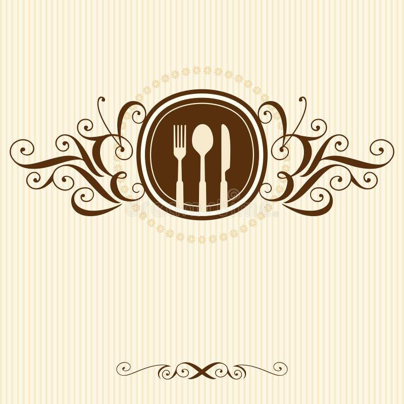 Carta decorativa del menu Illustrazione di vettore illustrazione di stock