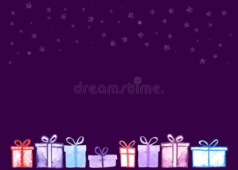 Carta dei regali di Natale illustrazione di stock