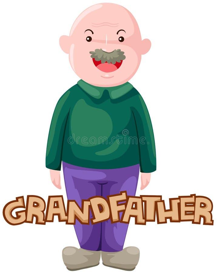 Carta del abuelo stock de ilustración