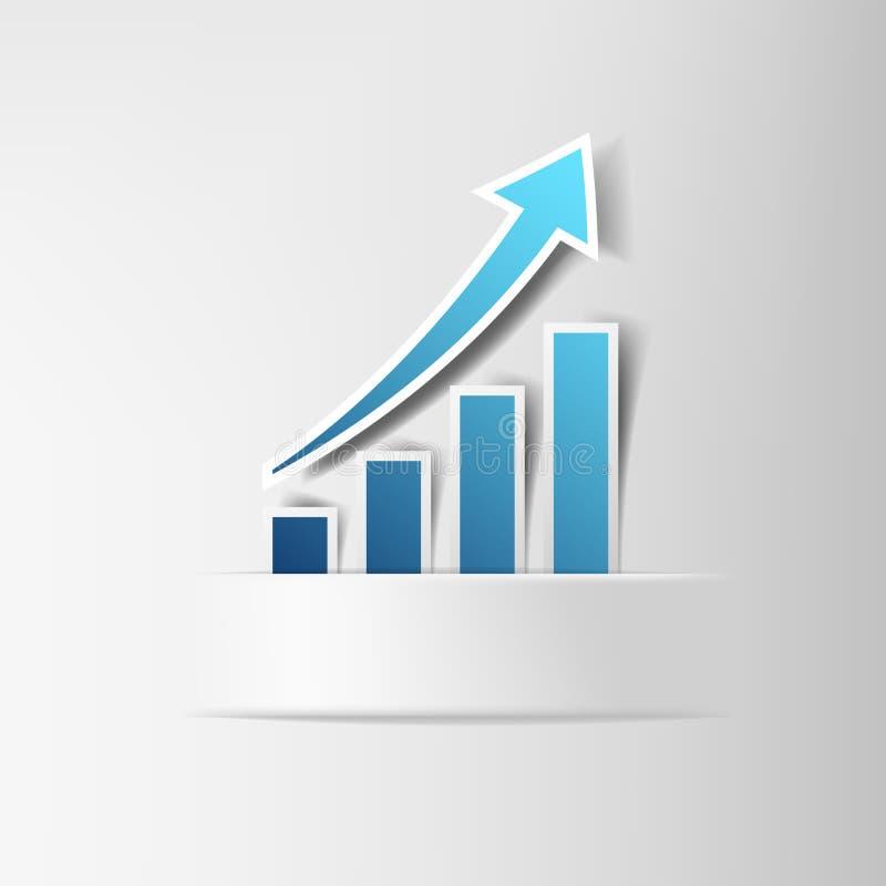Carta del aumento de beneficios stock de ilustración